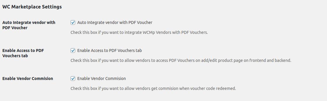 Wcmp settings