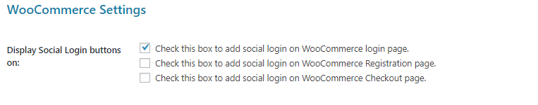 Woo login settings
