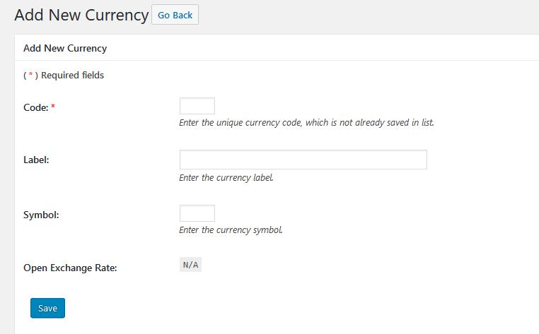 Add custom currency