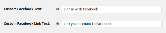 Custom facebook text