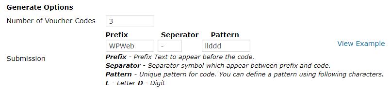 Edd voucher generate pattern