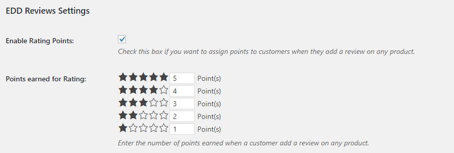 Edd review settings