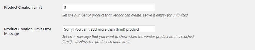 Fes limit settings