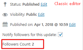 Follow count classic