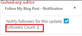 Follow count guten