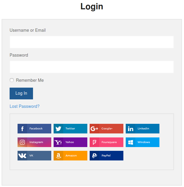 Link social to user
