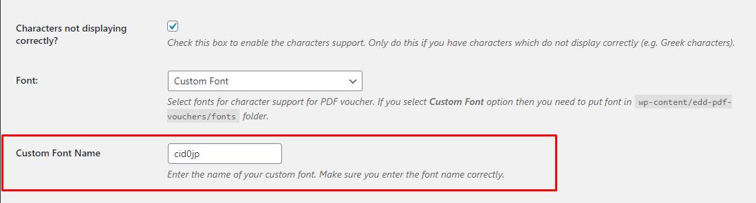Load custom font