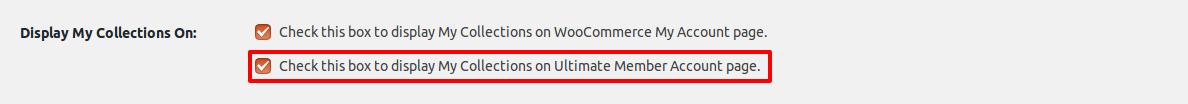 Ultimate member settings