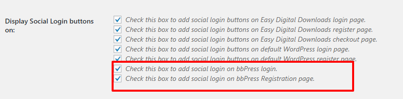 bbPress settings