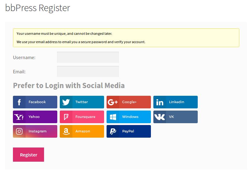 bbPress register