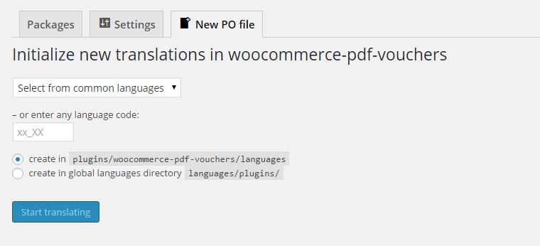 generate po file