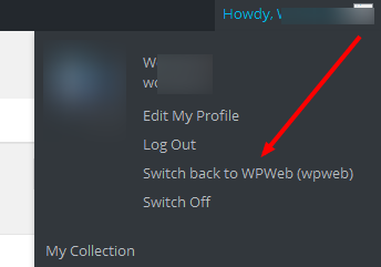 Wordpress user panel