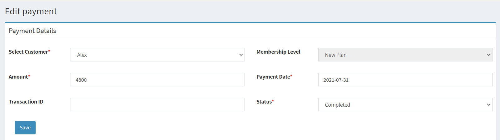 Manually Payments