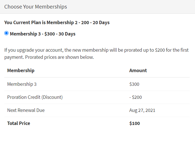 Upgrading-Between-Membership